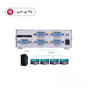اسپلیتور ۱ به ۴ VGA