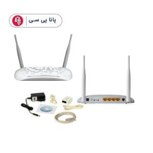 مودم-روتر +ADSL۲ و بیسیم تی پی-لینک مدل TD-W۸۹۶۱N