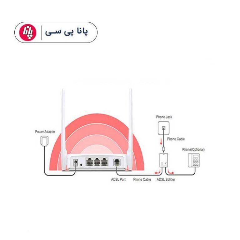 مودم روتر ۲ آنتن Mercusys MW300D ADSL2+ 300Mbps پک 5 عددی،هزینه ارسال محاسبه شده است